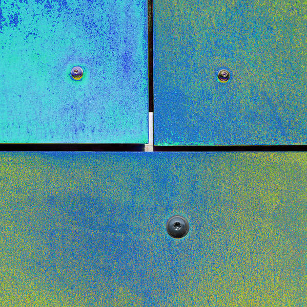 Photograph - Ten Eleven Twelve - Colorful Rust - Cyan Lime by Menega Sabidussi