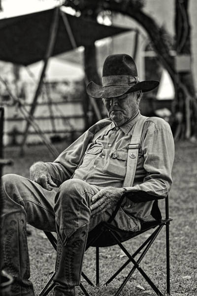 Photograph - Cowboy And The Ten Gallon Hat by Jonathan Davison