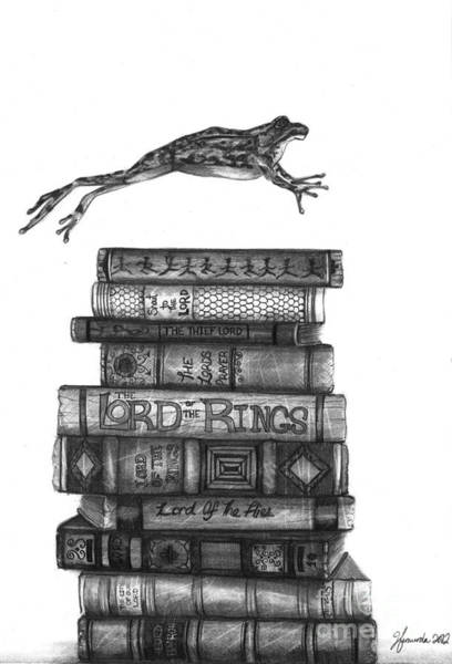 Books Wall Art - Drawing - Ten Lords A Leaping by J Ferwerda