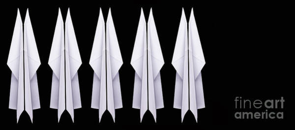 Photograph - Ten Paper Airplanes by Edward Fielding