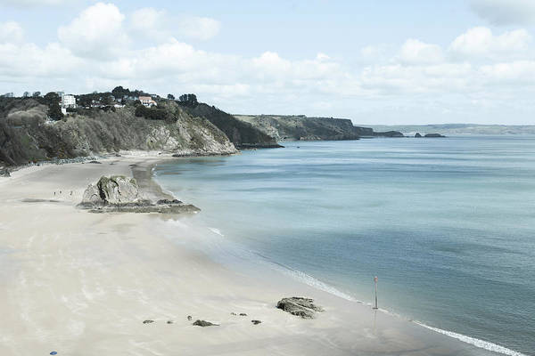 Photograph - Tenby Beach In South Wales by Paul Cowan