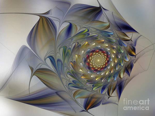 Digital Art - Tender Flowers Dream-fractal Art by Karin Kuhlmann