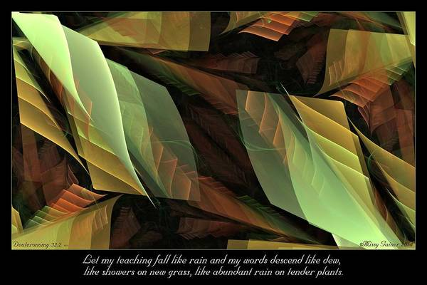 Digital Art - Tender Plants by Missy Gainer