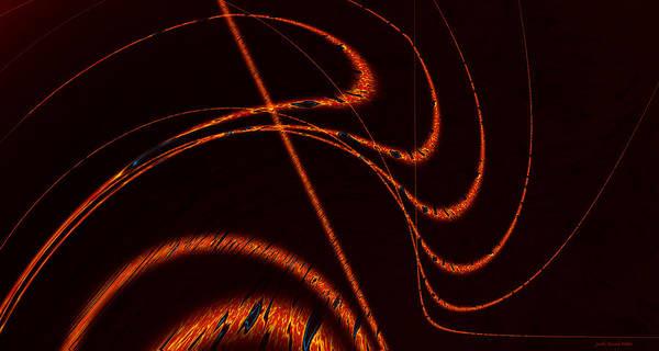 Digital Art - Tendrils Of Fire by Judi Suni Hall