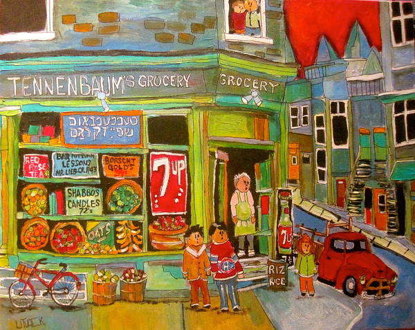 Montreal Canadiens Painting - Tennebaum's Grocery1950's by Michael Litvack