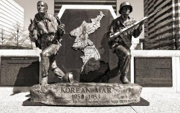 Wall Art - Photograph - Tennessee Korean War Memorial by Dan Sproul