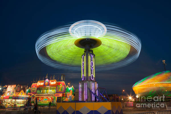 Photograph - Tennessee State Fair Rides At Night IIi by Clarence Holmes