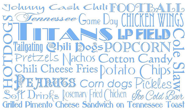 Digital Art - Tennessee Titans Game Day Food 1 by Andee Design