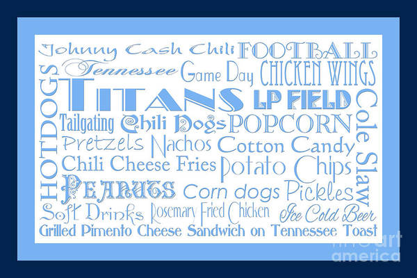 Digital Art - Tennessee Titans Game Day Food 2 by Andee Design