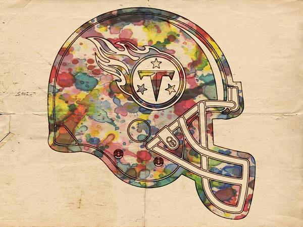 Painting - Tennessee Titans Helmet Poster by Florian Rodarte