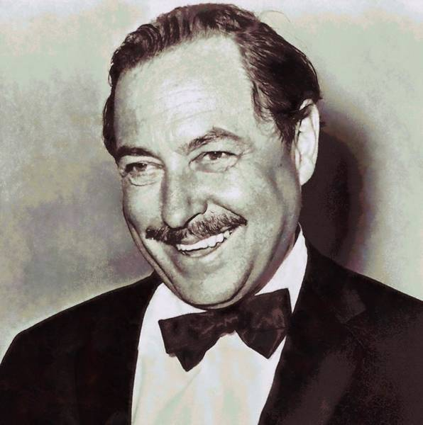 Wall Art - Mixed Media - Tennessee Williams by Dan Sproul