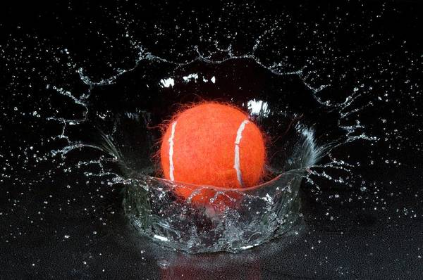 Moving Water Photograph - Tennis Ball And Splash by Dr. John Brackenbury/science Photo Library