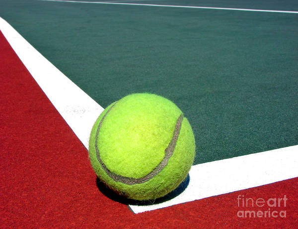Photograph - Tennis Ball On Court by Olivier Le Queinec
