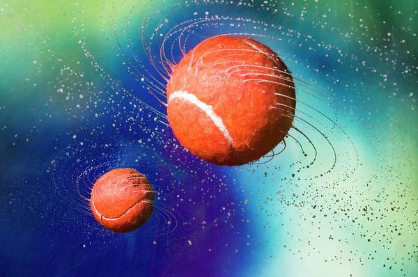 Moving Water Photograph - Tennis Balls And Spray by Dr. John Brackenbury/science Photo Library