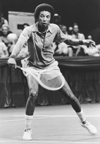 Wall Art - Photograph - Tennis Champion Arthur Ashe by Underwood Archives