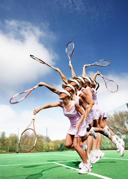 Exertion Wall Art - Photograph - Tennis Player by Gustoimages/science Photo Library