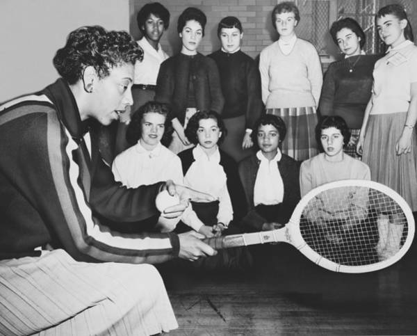 Wall Art - Photograph - Tennis Star Althea Gibson by Ed Ford
