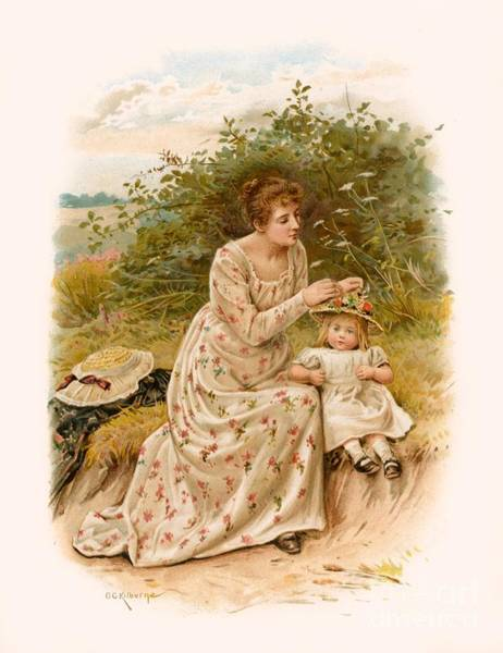 Poetry Painting - Tennyson S Dora by George Goodwin Kilburne