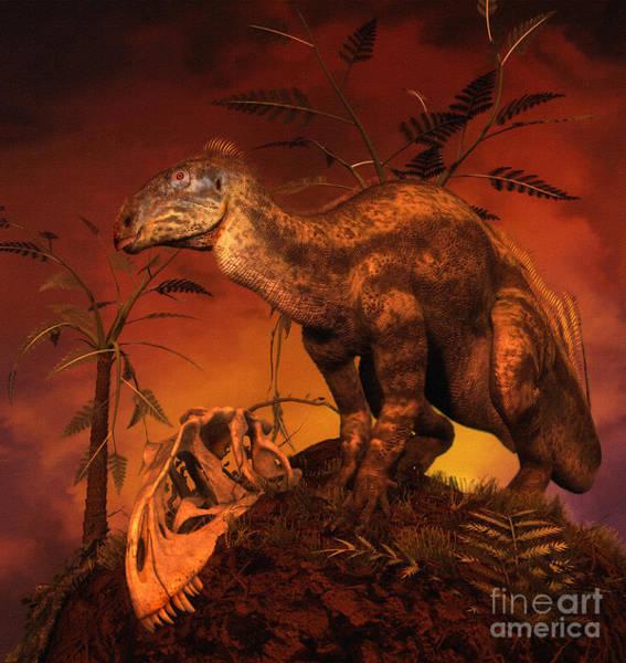 Mound Digital Art - Tenontosaurus Was An Ornithopod by Philip Brownlow