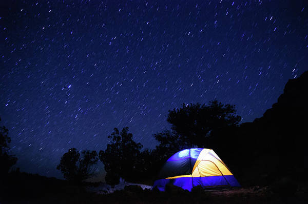 Tent Photograph - Tent Beneath A Starry Sky by Harpazo hope