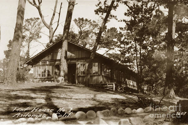 Photograph - Tent House No. 1 Asilomar Pacific Grove Calif Circa 1920 by California Views Archives Mr Pat Hathaway Archives