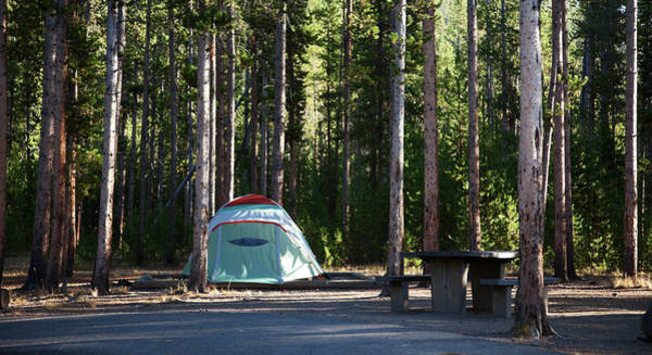 Tent Photograph - Tent In Yellowstone Campsite by Terryfic3d