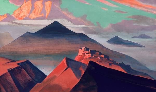 Nk Roerich Painting - Tent Mountain by Nicholas Roerich