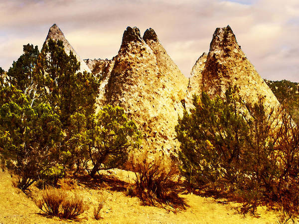 Painting - Tent Rocks National Monument by Bob and Nadine Johnston
