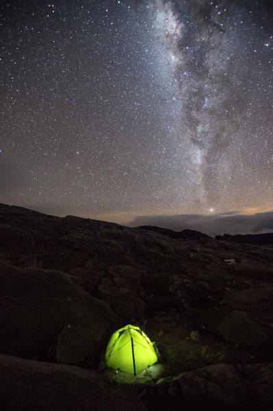 Boyaca Photograph - Tent Under Sky Full Of Stars And Milky by Marcos Ferro