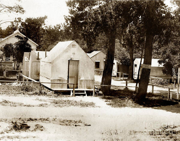 Photograph - Tents In Retreat Section Of Pacific Grove, Calif.  Near 18th Street Circa 1895 by California Views Archives Mr Pat Hathaway Archives