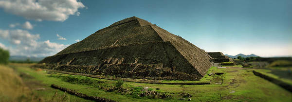 Aztec Photograph - Teotihuacan Pyramids Archaeological by Panoramic Images