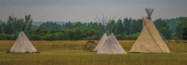 One Of A Kind Photograph - Tepees by Paul Freidlund