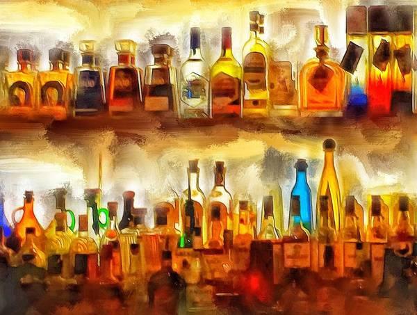 Ok Digital Art - Tequila Bar At Aquila Restayrant by Yury Malkov
