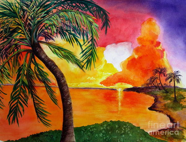 Painting - Tequila Sunset by Diane DeSavoy