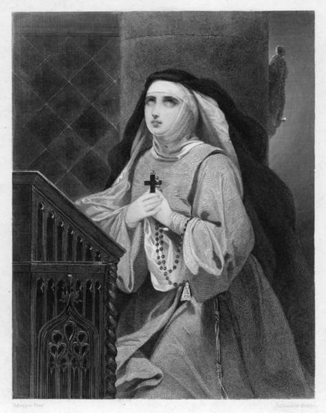 The Mystic Drawing - Teresa Of Avila (1515-1582) Spanish by Mary Evans Picture Library