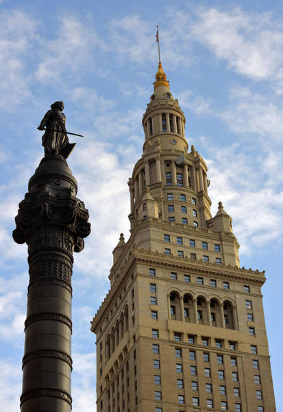 Photograph - Terminal Tower And Soldiers And Sailors Monument by Clint Buhler