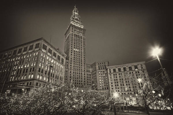Photograph - Terminal Tower At Night by Brent Durken