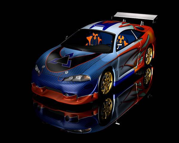 Digital Art - Terminator Car by Carlos Diaz