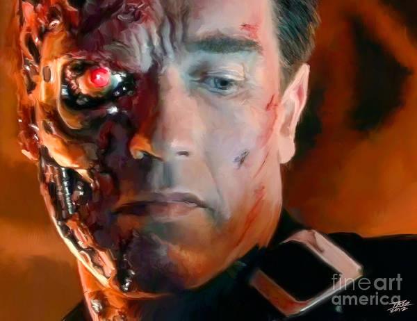 Back Painting - Terminator by Paul Tagliamonte