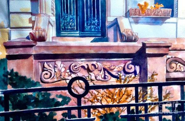 Painting - Terra Cotta And Iron Fence by Nancy Wait