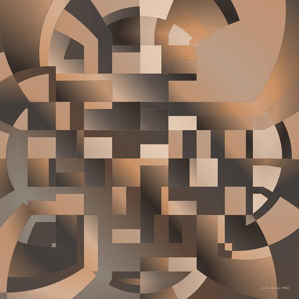 Digital Art - Terrace Geometric by Judi Suni Hall