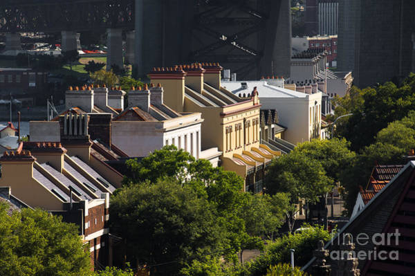 Photograph - Terrace Houses In The Rocks Area Of Sydney by David Hill