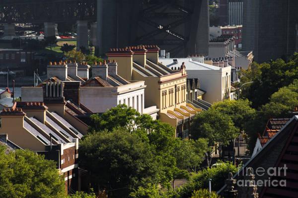 Terrace Houses In The Rocks Area Of Sydney Art Print