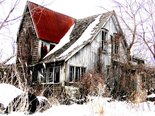 Mixed Media - Terrance Laird Farm House Thedford by Bruce Ritchie