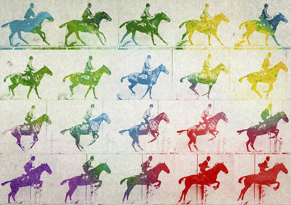 Horseback Wall Art - Digital Art - Terrestrial Locomotion by Aged Pixel