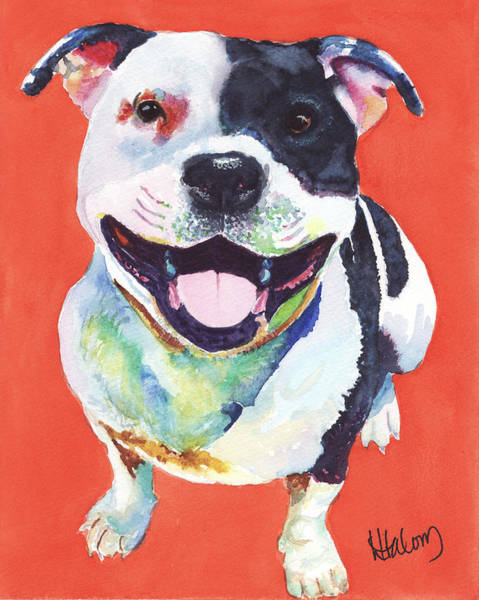 Painting - Terrier by Greg and Linda Halom