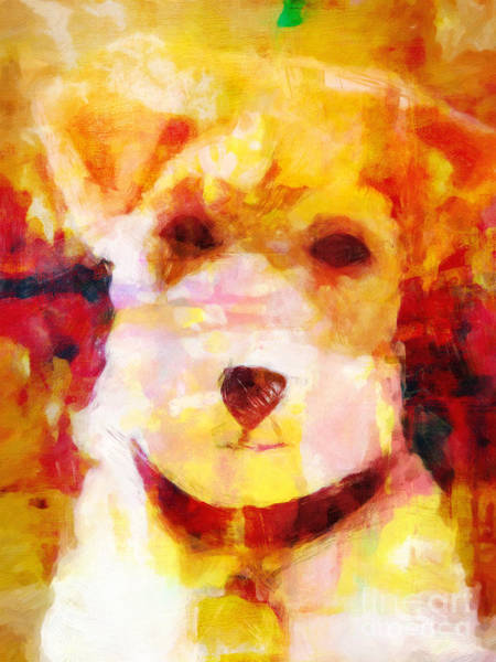 Painting - Terrier Pop-art by Lutz Baar