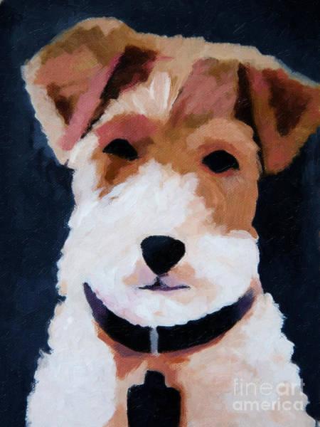 Painting - Terrier Portrait by Lutz Baar