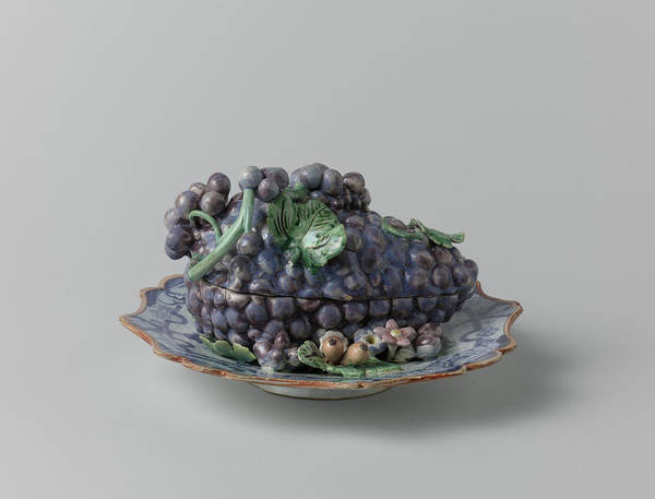 Grape Drawing - Terrine, In The Form Of A Bunch Of Grapes by Quint Lox