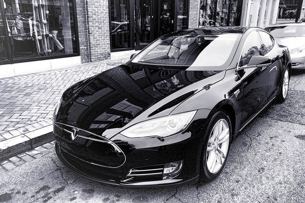 Wall Art - Photograph - Tesla Model S by Olivier Le Queinec